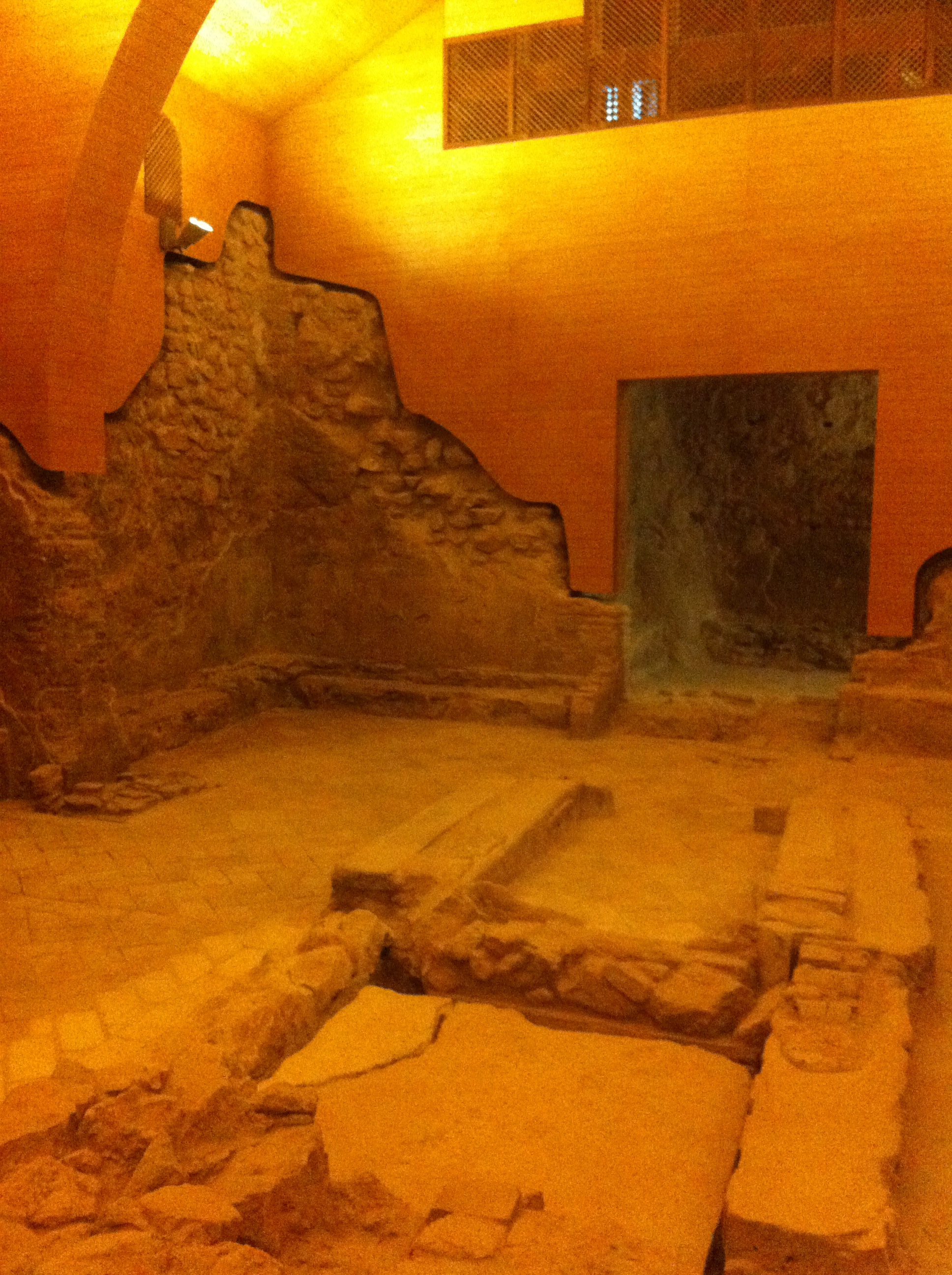 Image of the reconstructed synagogue in the ancient Jewish quarter of Lorca