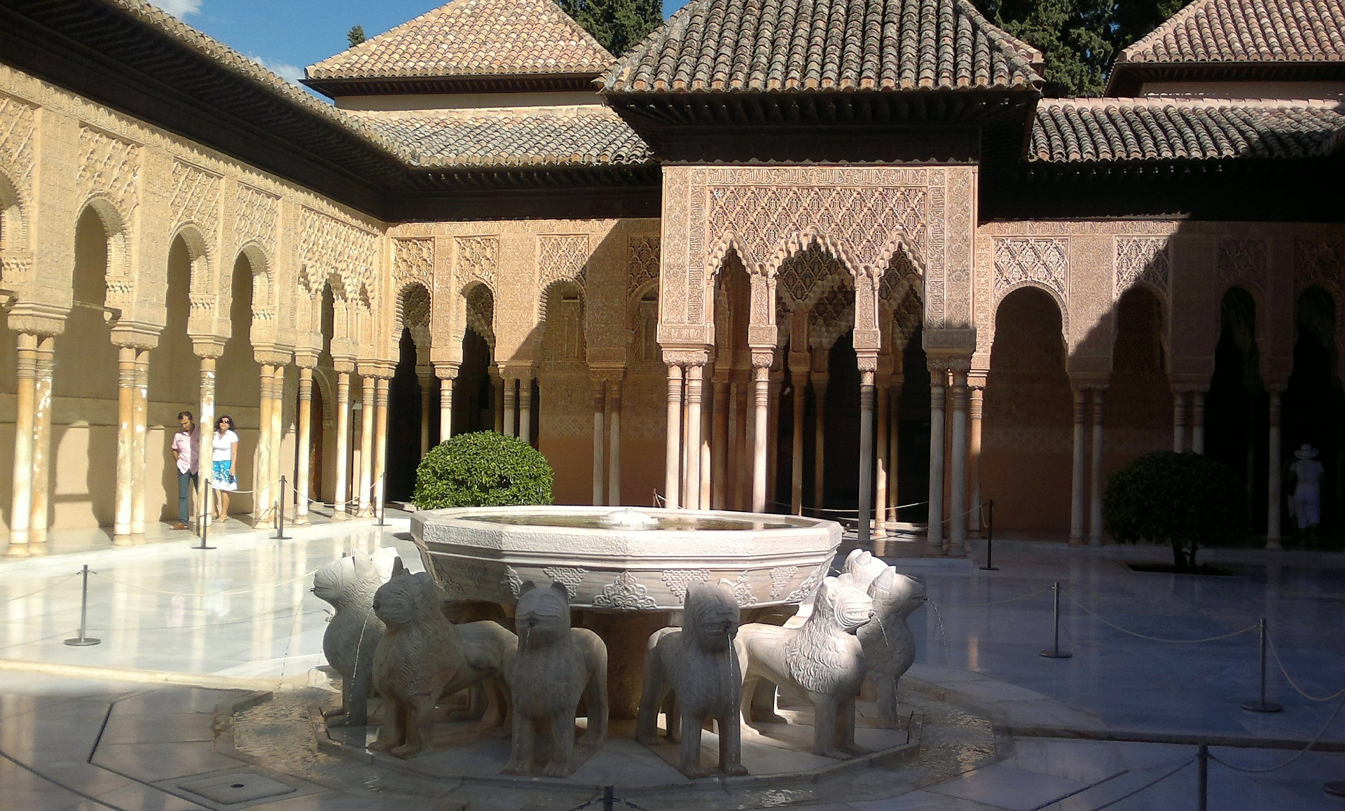 photo of the court of the lions, alhambra, granada, spain